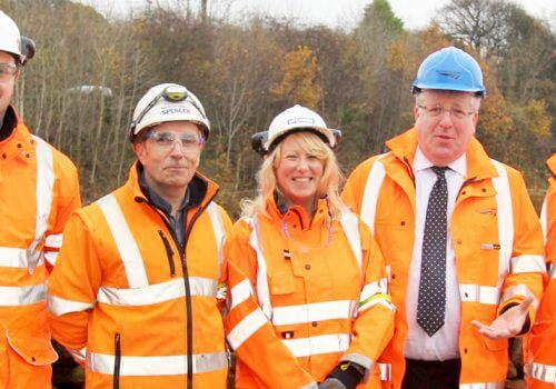 Transport Minister visits Spencer Groups Apperley Bridge project as part of West Yorkshire visit cover image
