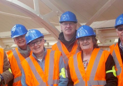 Spencer Group's Wemyss Bay Station team praised following community group's site tour cover image