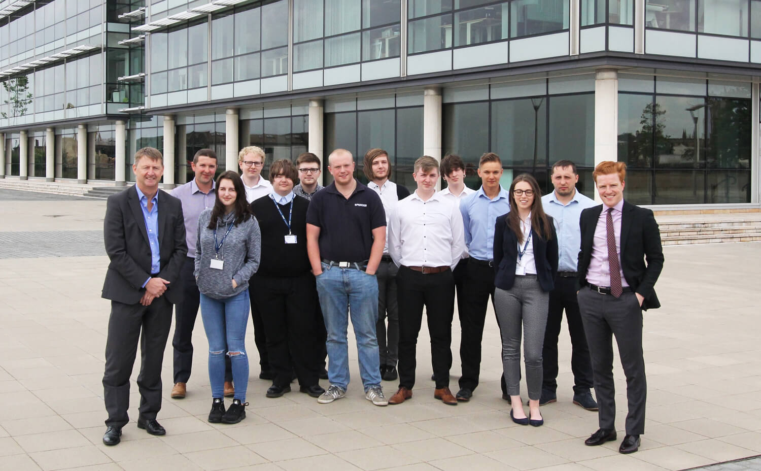 Spencer Group apprentices line-up