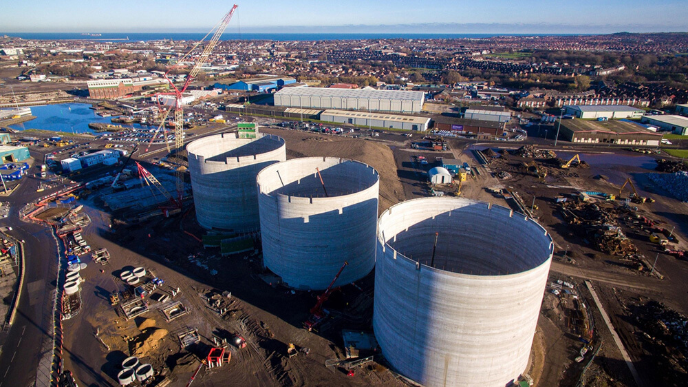 Port of Tyne Wood Pellet Storage Silos