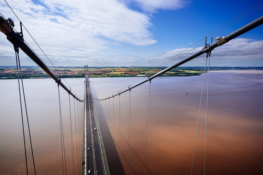 Humber Bridge views from the North Tower