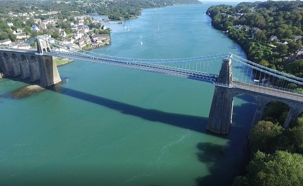 Spencer Group steps forward for major footpaths project on iconic Menai Suspension Bridge